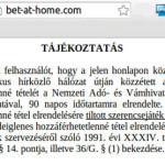 Blokkoltak két on-line fogadási oldalt