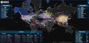 Hacker támadások térképe