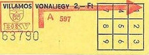 villamos-jegy