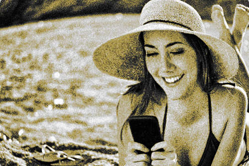 nyaralas-tengerpart-mobiltelefon