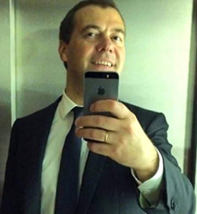 Dmitrij-Medvegyev-szelfi