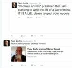 Paulo Coelho a Twitteren közölte, hogy nem ír regényt Karadzicról