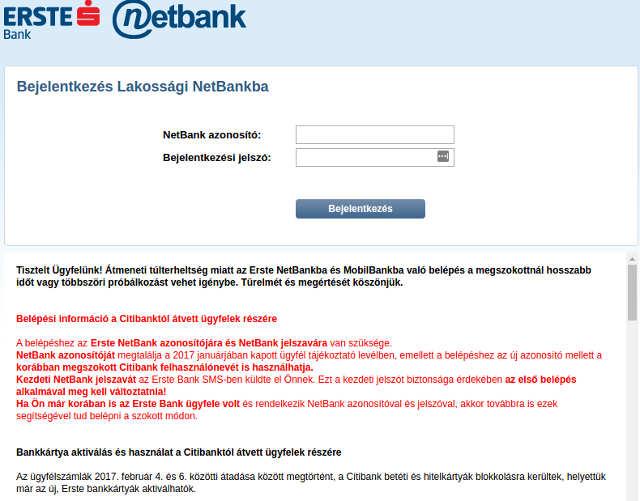 Akadozik az Erste Bank internetes rendszere | [-] mínuszos.hu