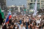 A Telegram blokkolása ellen tüntettek Moszkvában