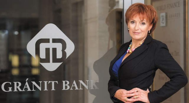 Hegedüs Éva a Gránit Bank elnök-vezérigazgatója