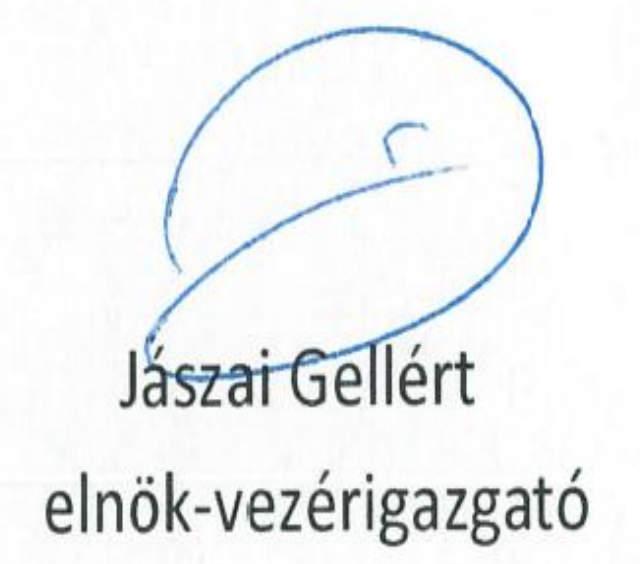 Jászai Gellért aláírása