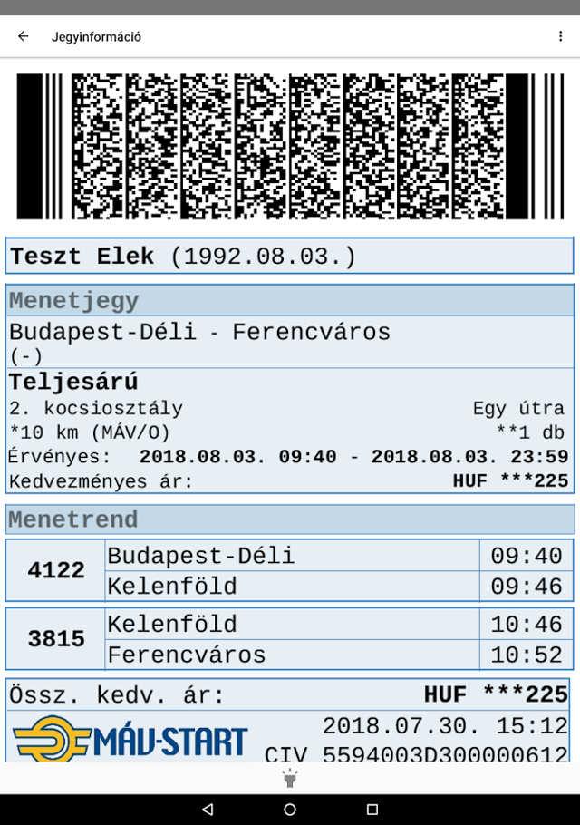 MÁV app