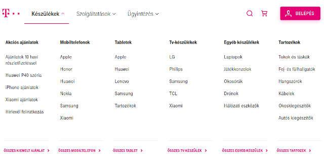 Magyar Telekom webshop