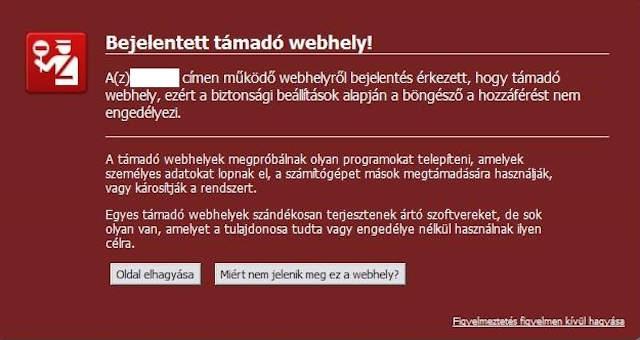 Támadó weboldal