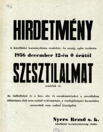 szesztilalom, 1956